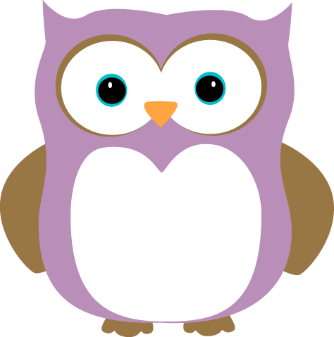 474x479 Purple And Brown Owl Clip Art Clipart Panda