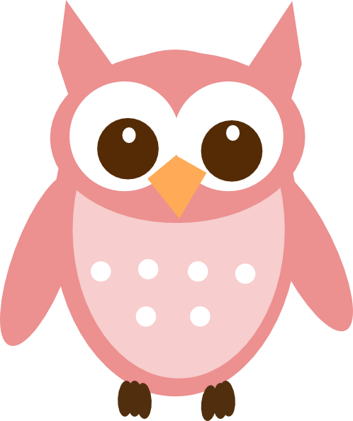 498x595 Rose Pink Owl Clip Art