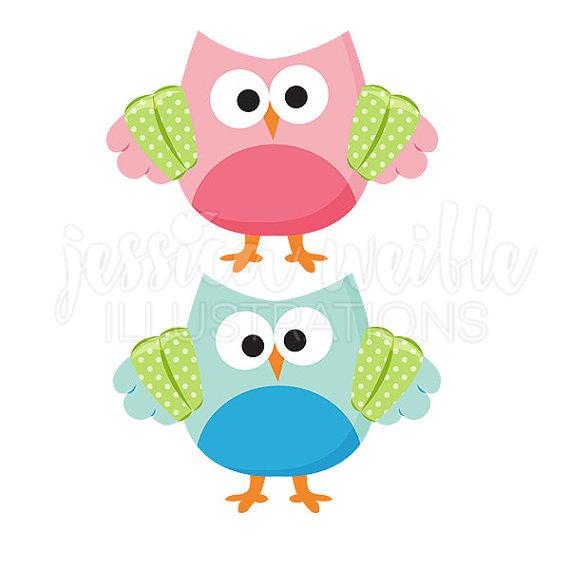 570x570 Swimmer Owl Cute Digital Clipart Summer Swim Owl Clip Art