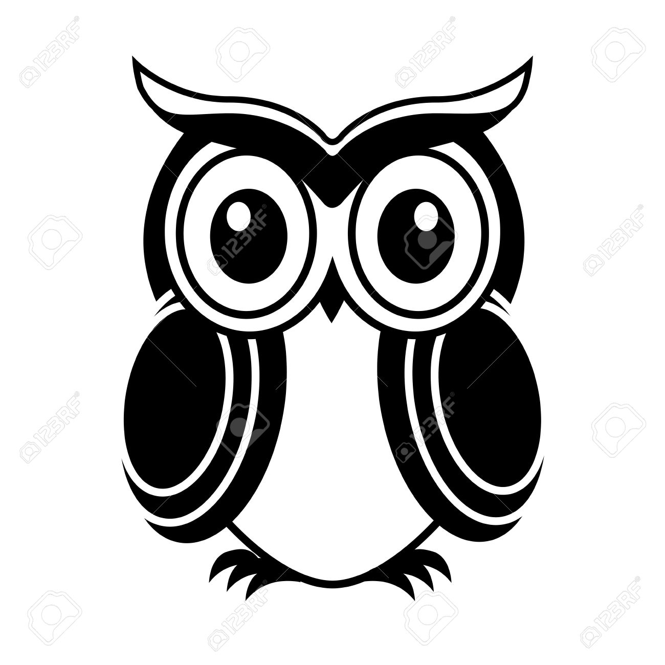 1300x1300 Drawn Owlet Owl Eyes