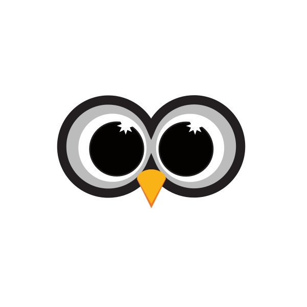 600x600 Logo Design On Twitter Owl's Eyes Logo Httpst.coh8xsbqexzw