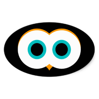 324x324 Owl Eyes Stickers Zazzle