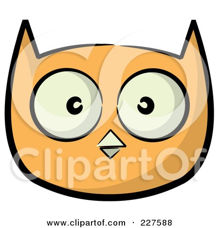 450x470 Royalty Free (Rf) Clipart Illustration Of An Orange Owl Face