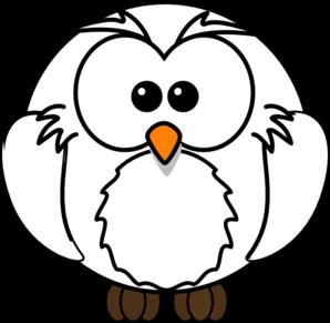 298x291 White Owl Clip Art