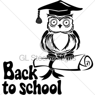 325x325 Cartoon Wise Owl With Graduation Cap And Diploma Gl Stock Images