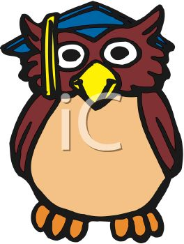 264x350 Graduation Cartoon Of An Owl Symbol For Knowledge
