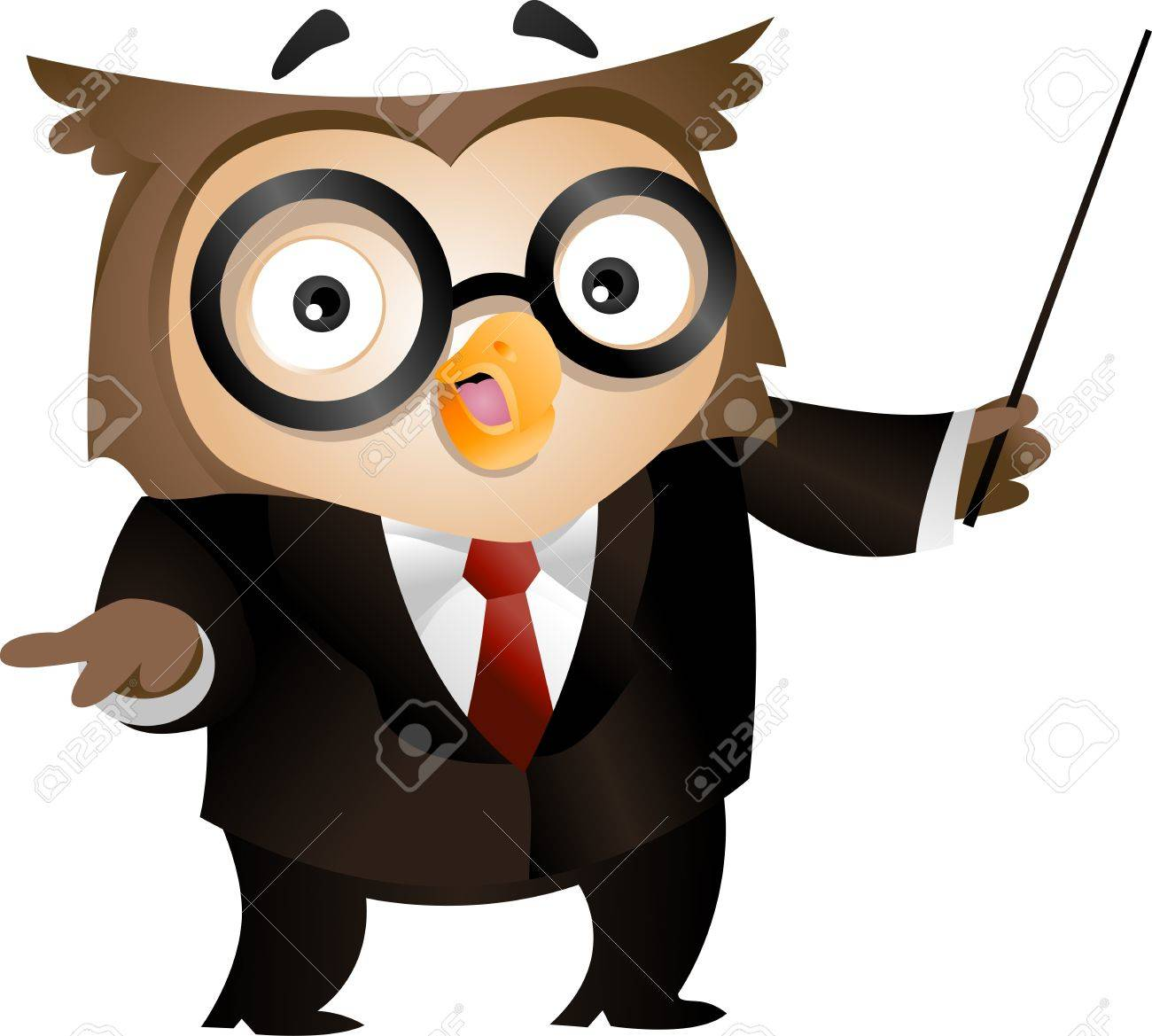 1300x1169 Illustration Of An Owl Holding A Stick To Emphasize What He Is