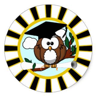 324x324 Owl Graduation Stickers Zazzle