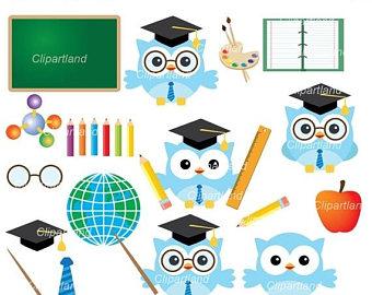 340x270 School Owl Clip Art Etsy