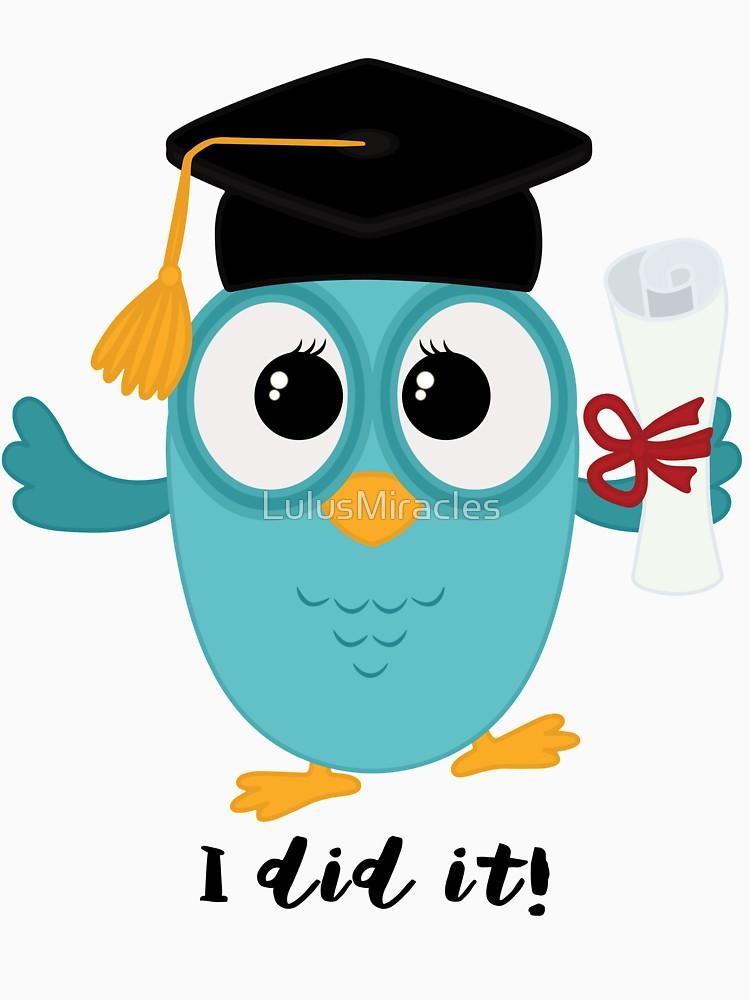 750x1000 Sweet Graduation Owl, Class Of 2016 Women's Fitted Scoop T Shirt