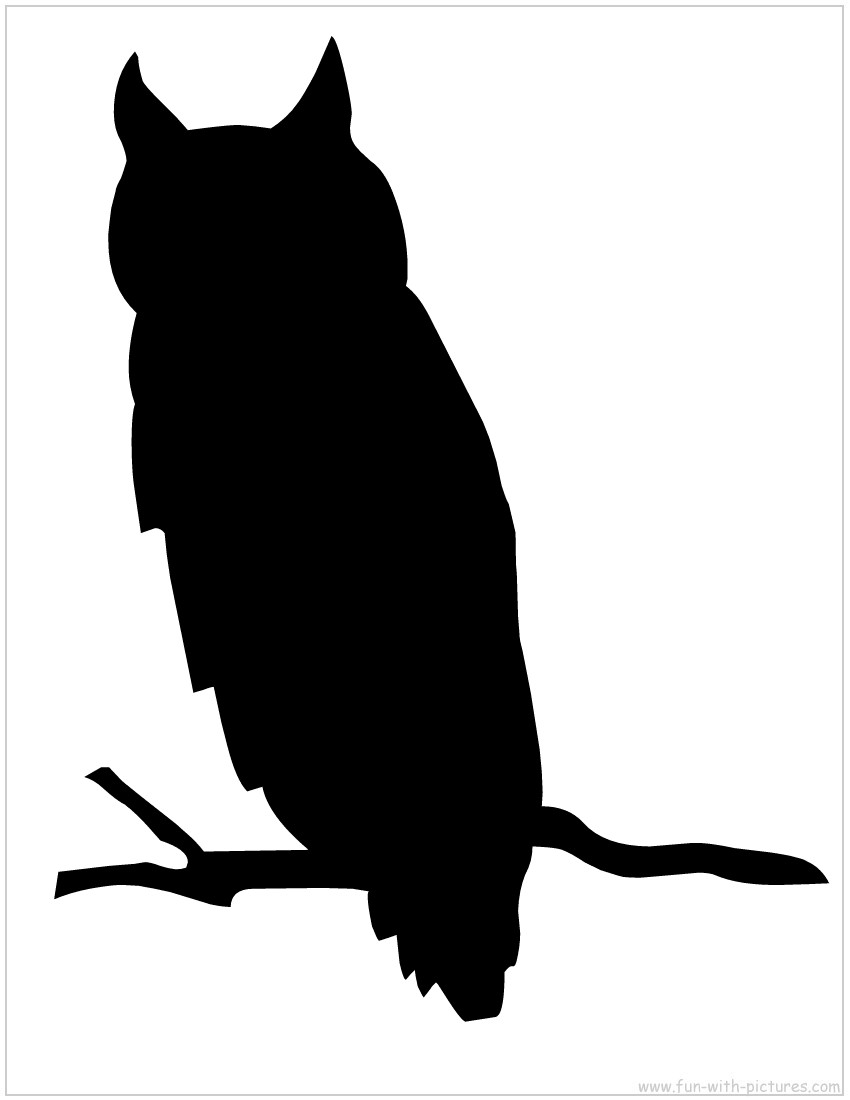 850x1100 Halloween Owl Outline Clip Art
