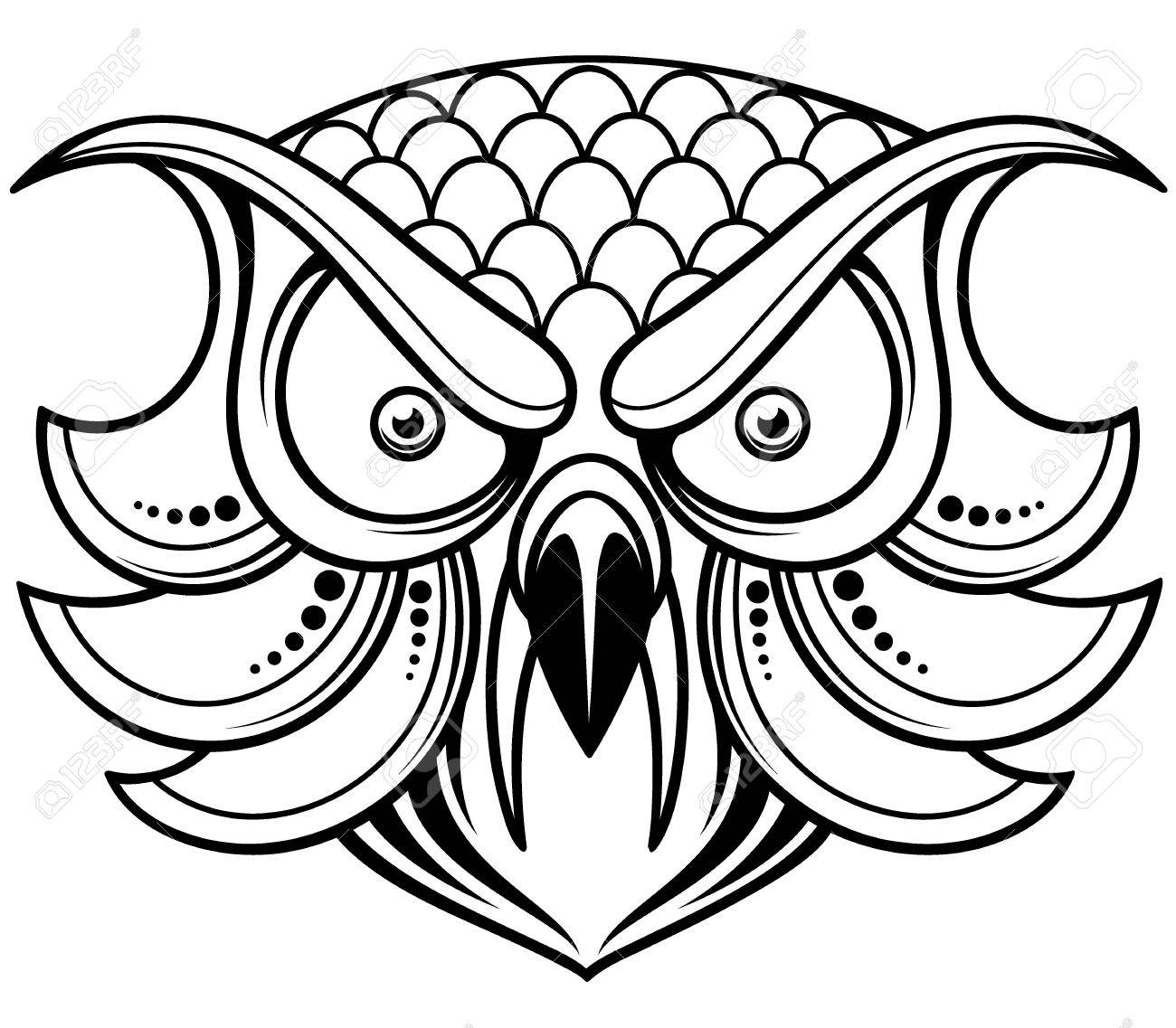 1300x1137 Outline Of An Owl Clip Art On Tattoo By Isisfiredancer Clipart