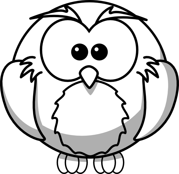 600x585 Owl Outline Clip Art