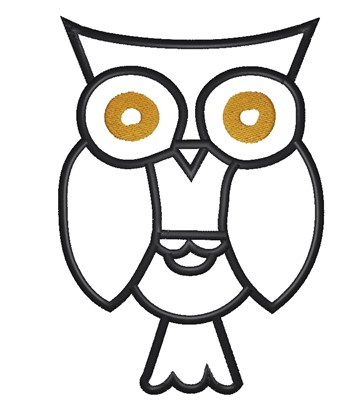 359x400 Owl Outline Embroidery Design Annthegran