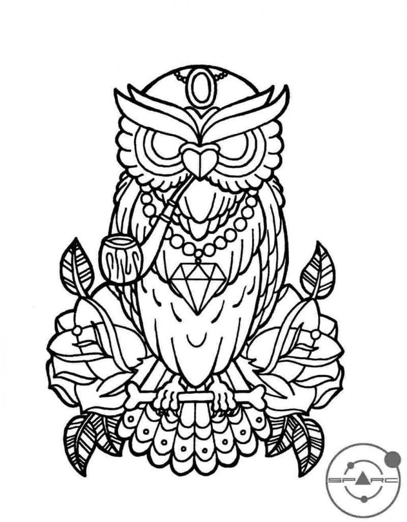 800x1027 Owl Outline Tattoo Kids Coloring