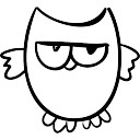 128x128 Owl Outline Vectors, Photos And Psd Files Free Download