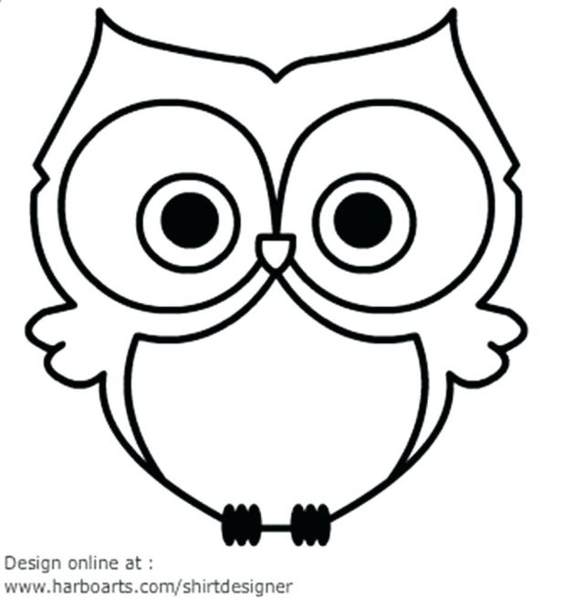 618x655 Owl Silhouette More Simple Outline Tattoo Black Purdue Format