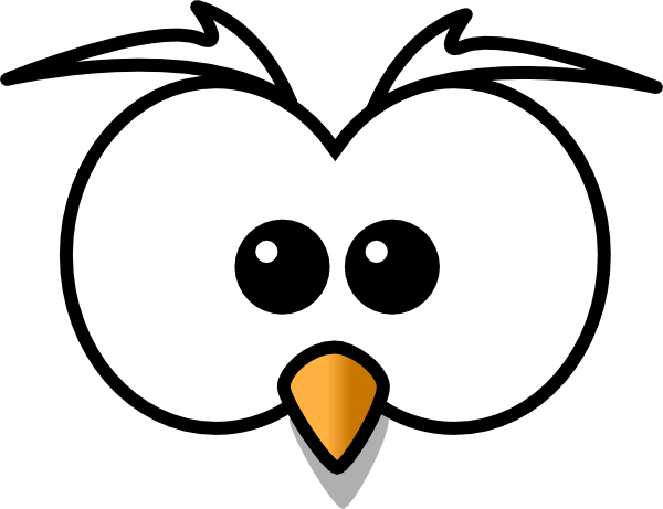 600x461 Owlet Clipart Outline
