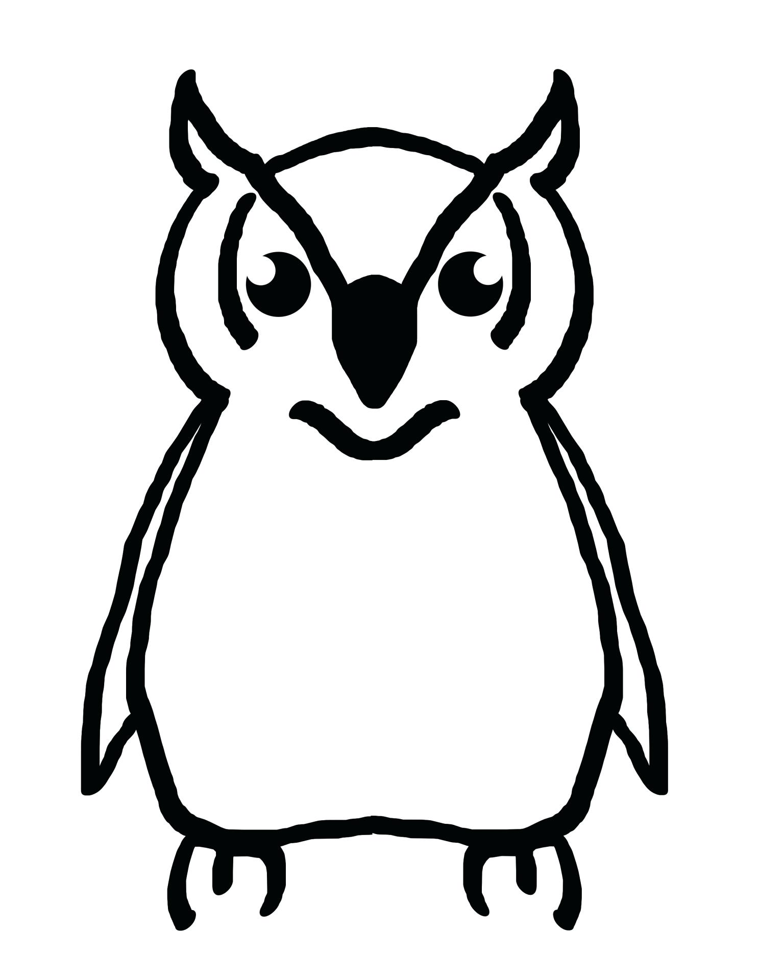 1536x1920 Owls And Tree Pattern Owl Outline Template Printable Purdue Owl