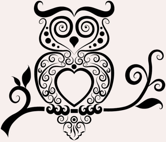 552x472 Svg Owl Outline Free Vector Download (87,171 Free Vector)