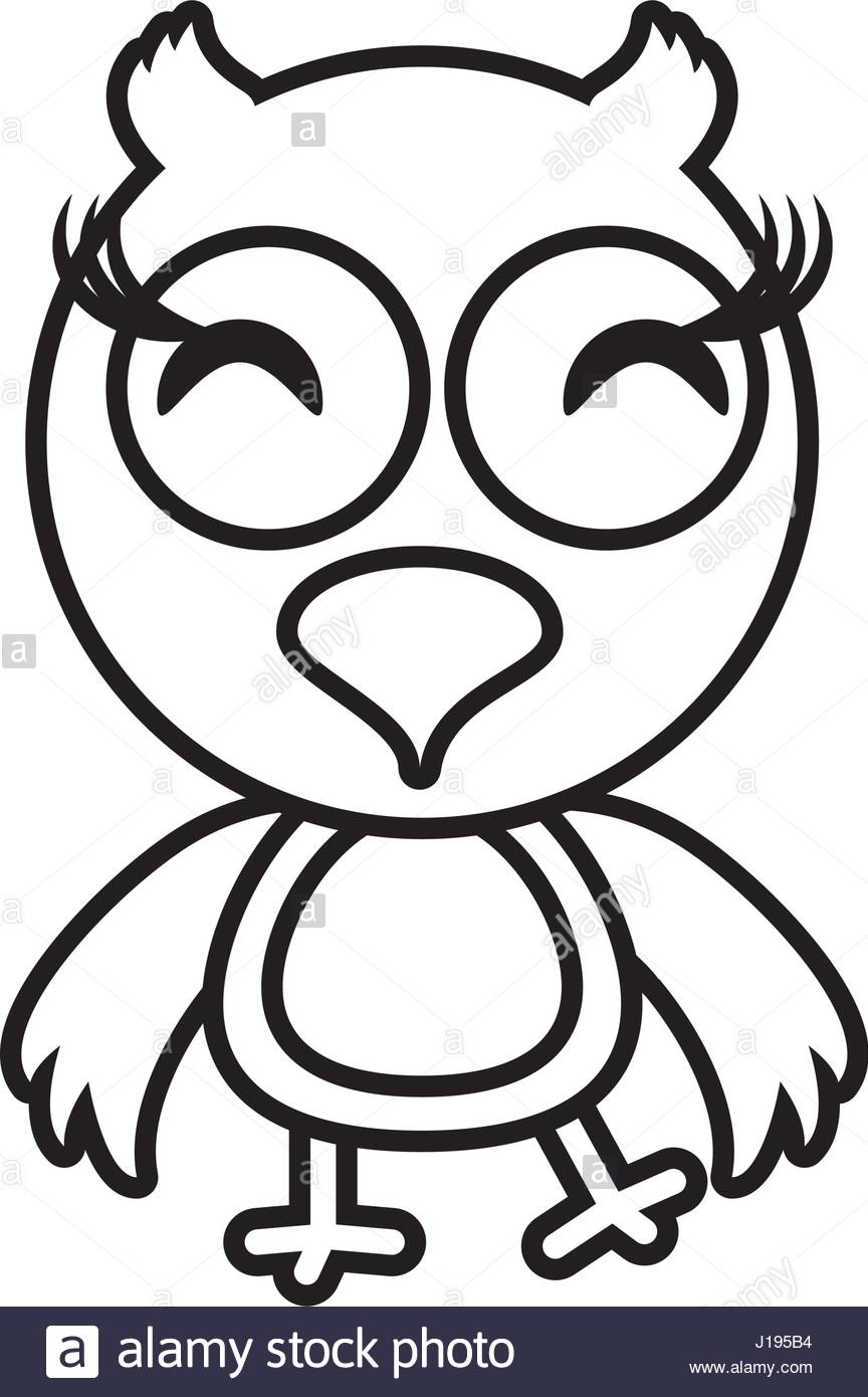 864x1390 Cartoon Owl Animal Outline Stock Vector Art Amp Illustration, Vector