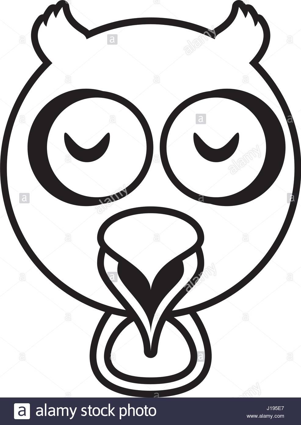 986x1390 Outline Owl Head Animal Stock Vector Art Amp Illustration, Vector