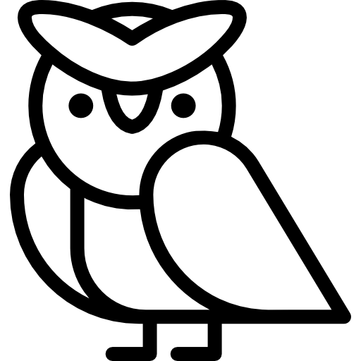 512x512 Owl, Owl Side View, Owl Outline, Animals, Owls, Owl Animal Icon