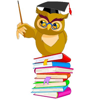 Owl Reading Book Clipart