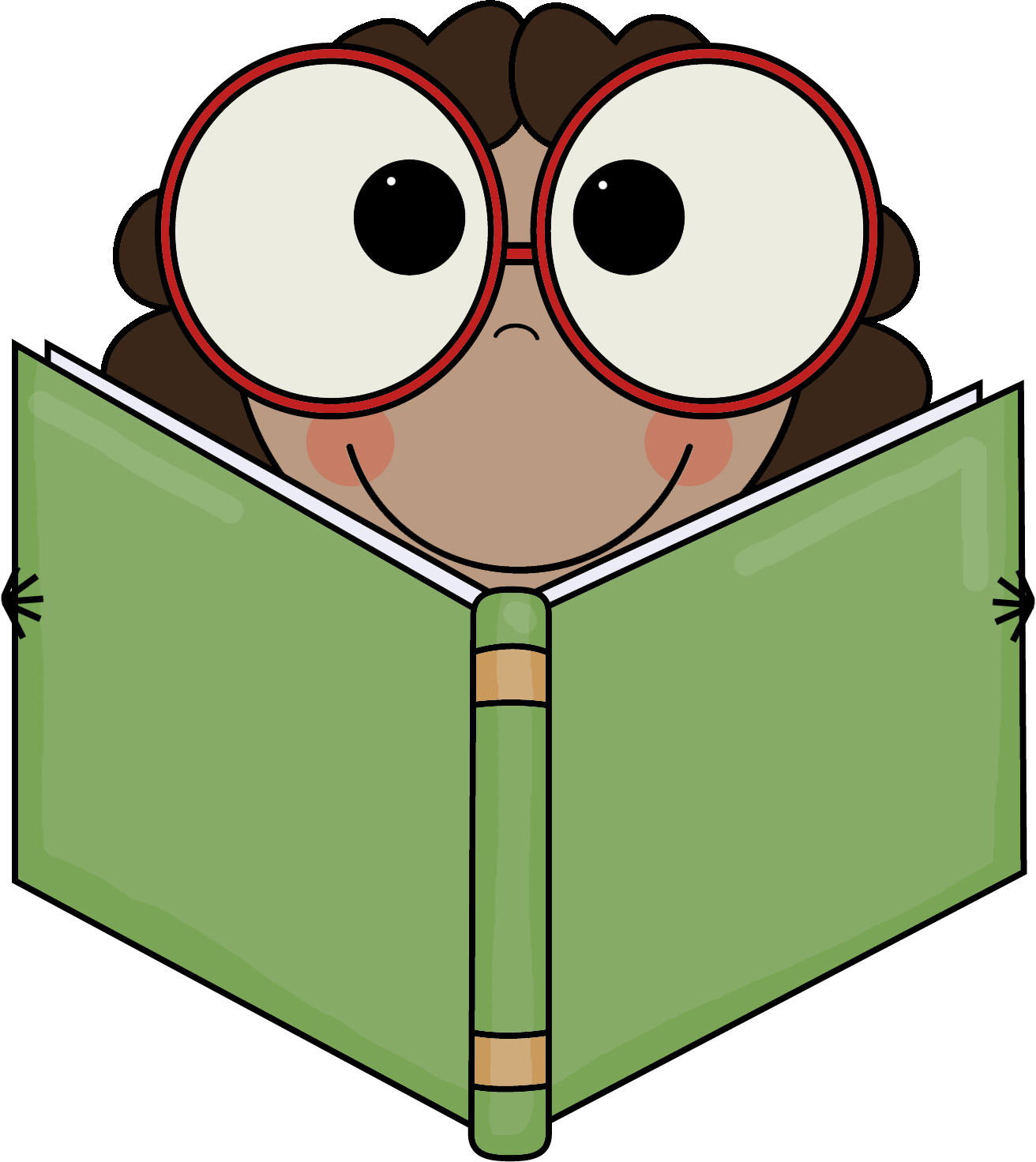 1312x1472 Eyes In Book Clipart