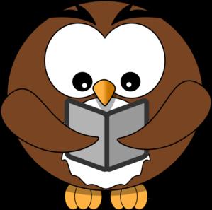 299x297 Owl Book Clip Art