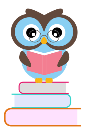 292x429 Owl Reading Book Clipart