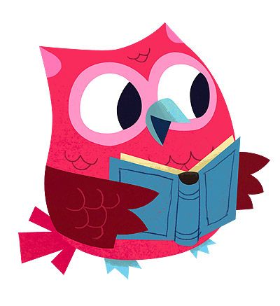 400x437 Owl Reading Clipart