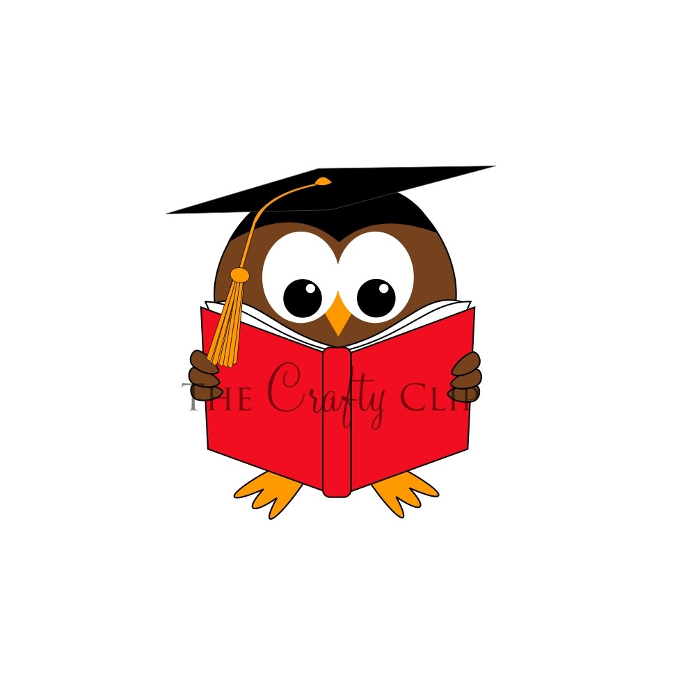 999x999 Owl Reading Clipart