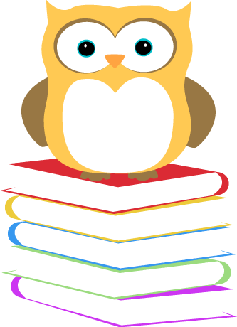 333x460 Owl Sitting On A Stack Of Books Clip Art