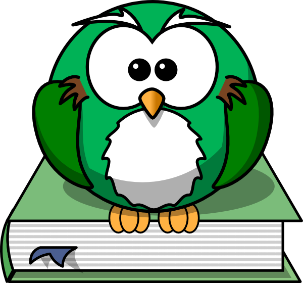 600x560 Owl2 On The Book Clip Art
