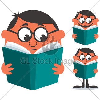 325x325 Panda Reading A Book Gl Stock Images