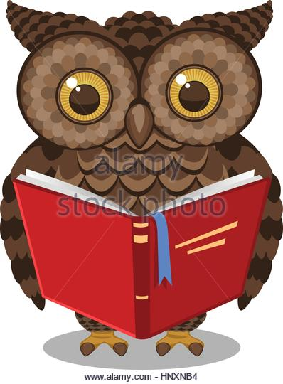 398x540 Wise Owl Reading Book Stock Photos Amp Wise Owl Reading Book Stock