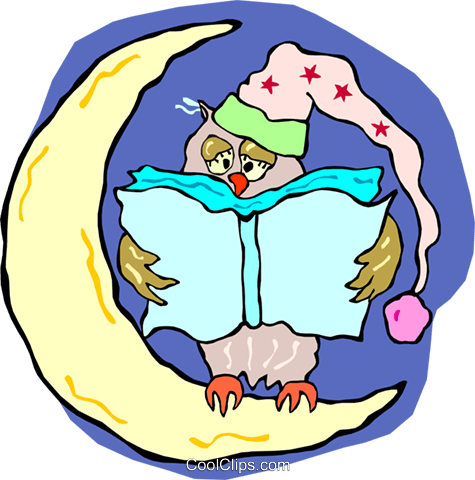 475x480 Owl Reading A Book Royalty Free Vector Clip Art Illustration