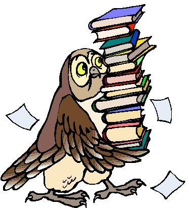 373x411 Best Owl Reading Clipart