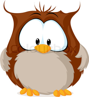 296x320 Cartoon Owl Reading A Book. Vector Clip Art Illustration