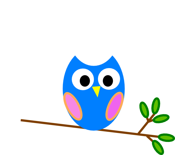 600x533 Blue Owl Png, Svg Clip Art For Web