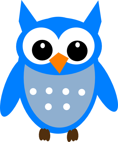 498x599 Free Blue Cartoon Hoot Owl Clip Art
