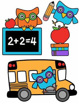 271x350 Owl And Back To School Clipart Bundle By Splashy Pix Tpt