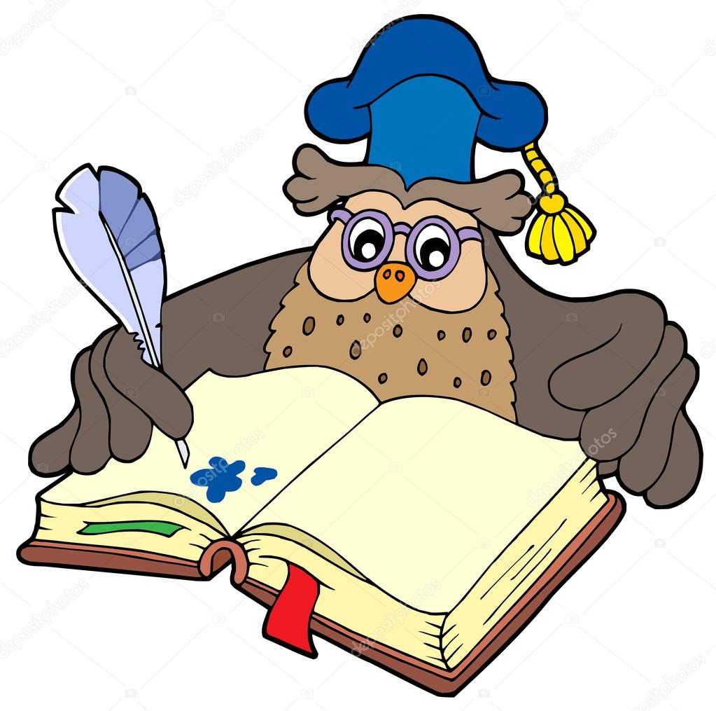 1023x1015 Writing Owl Teacher Stock Vector Clairev
