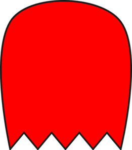 261x297 Red Pacman Ghost 1 Clip Art