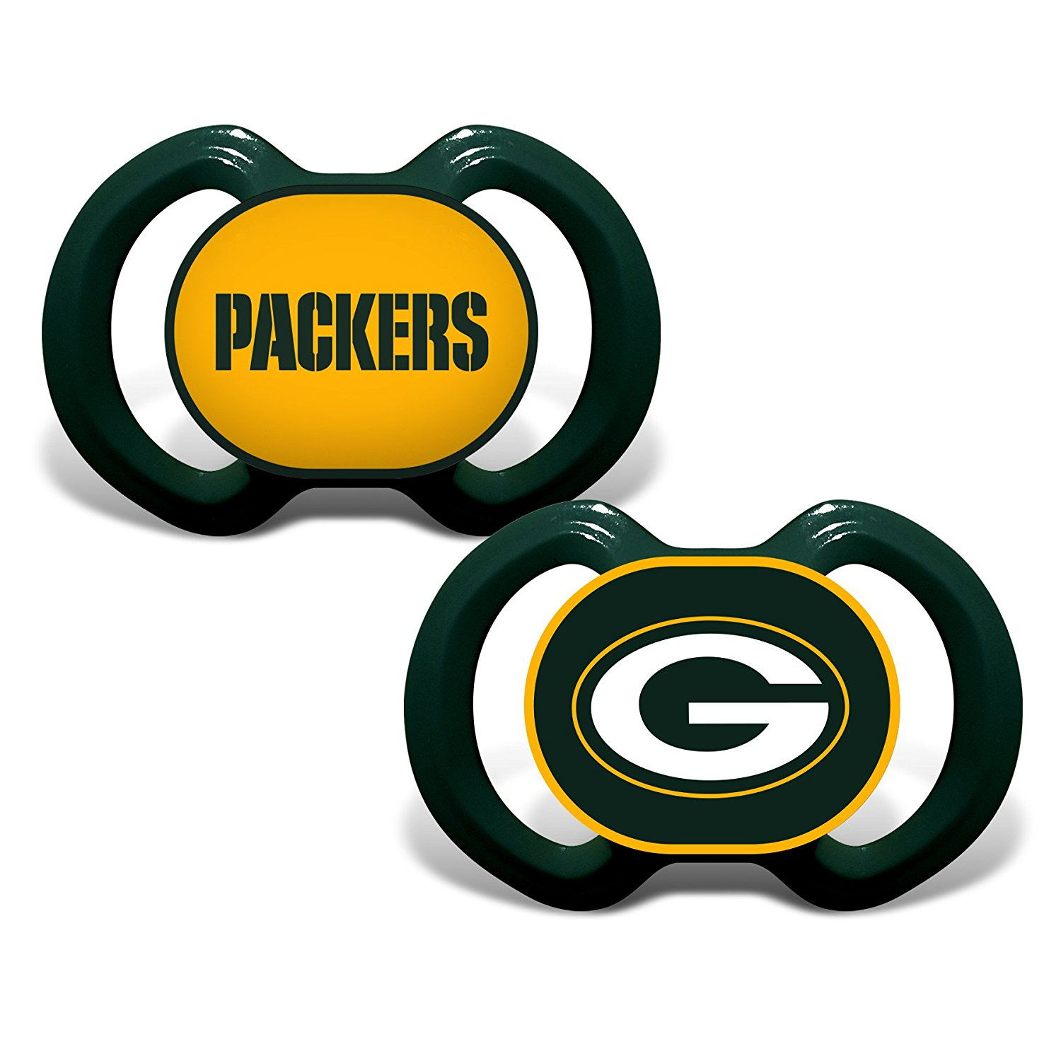 1500x1500 Baby Fanatic Green Bay Packers 2 Piece Pacifier Set