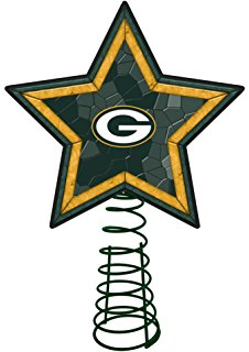 226x320 Green Bay Packers Art Glass Tree Topper Home Amp Kitchen