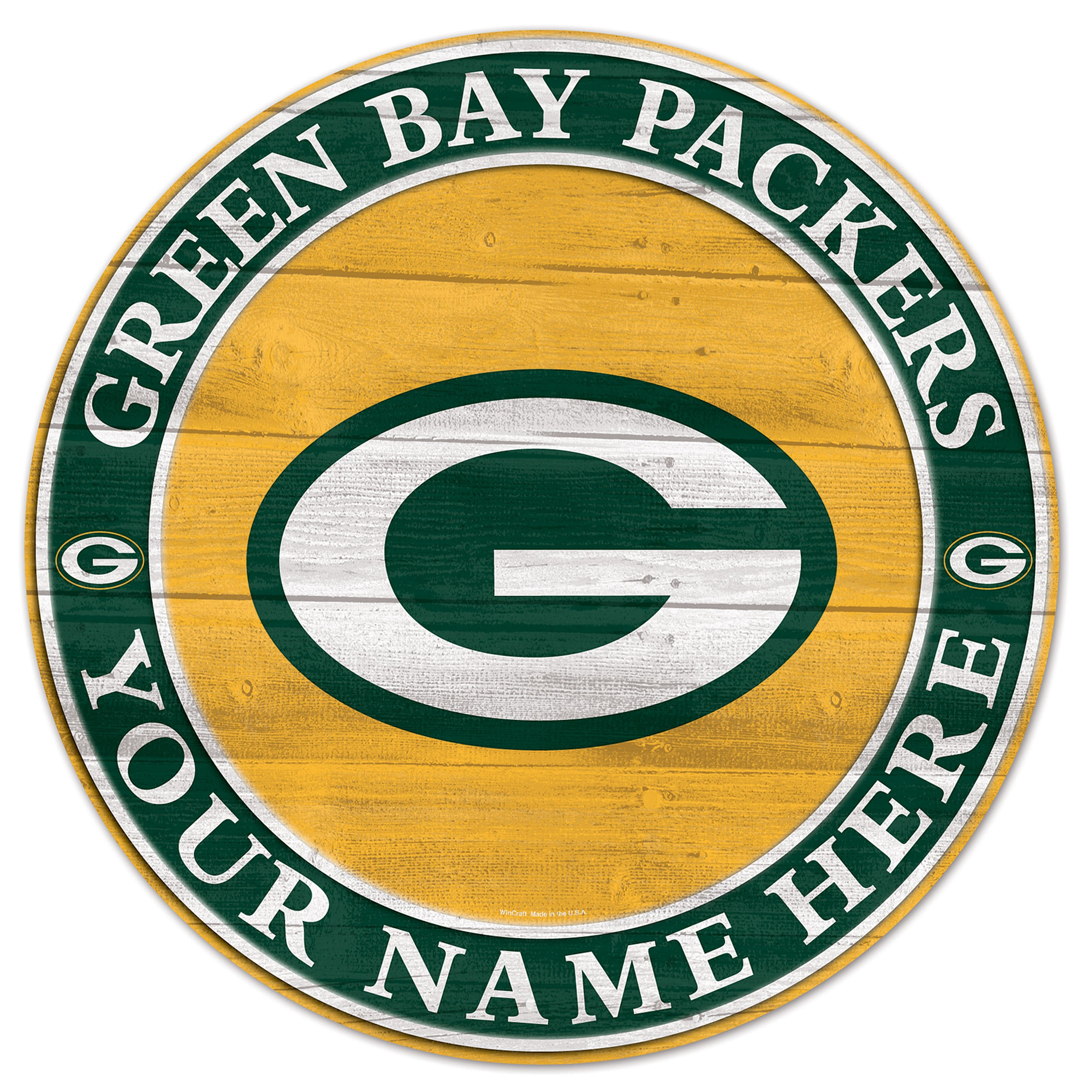 2500x2500 Bay Packers Personalized Wooden Sign