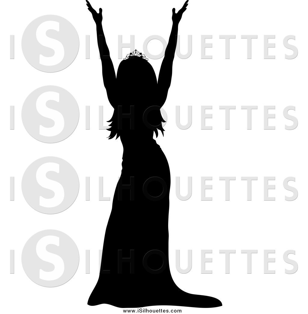 1024x1044 Clipart Of A Silhouetted Miss America Pageant Winner Holding Up