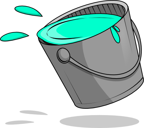 480x427 Free Pail With Liquid Clip Art